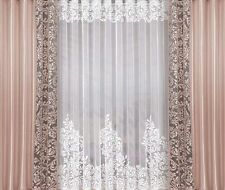 "Refined Set Of Net Curtain 197""x98""(500x250cm) + Curtains 55""x98""(140x250cm)"