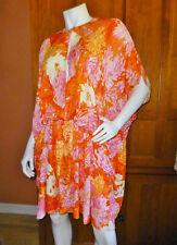 MICHAEL KORS Van Gogh Print Jersey Draped Cocoon Kaftan DRESS One Size S M L XL