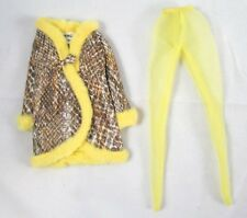 Francie Doll Snake Charmer Coat Yellow Tights Mod 1970 Barbie Clothes VTG