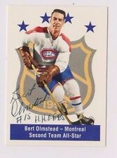 1994 Parkhurst Bert Olmstead AS Montreal Canadiens Autographed Card