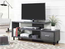 """DESIGNS2GO Seal II 60"""" TV Stand, Weathered Gray Finish"""