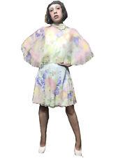 R.E.D. Valentino  Floral Silk Mini Dress.