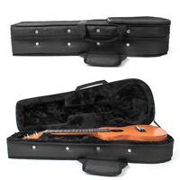 26 Inch Ukulele Carrying Case Hard Bag Black For Tenor Ukelele With Capo Picks