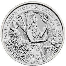 GRANDE BRETAGNE 2 Livres Argent 1 Once Mythes et Légendes Maid Marian 2022