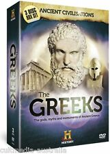 THE ANCIENT GREEKS HISTORY CHANNEL DOCUMENTARIES COLLECTION NEW 3 DVD BOXSET R4