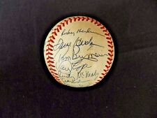 1983 Oakland Athletics team autographed OAL baseball