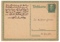 Deutsches Reich, Ganzsache P 207 TSt Sulzfeld (Baden) nach Singen 18.11.1927