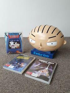 🔶️RARE FAMILY GUY STEWIE GRIFFIN DISPLAY HEAD DVD BOX SET REGION 4 OZ