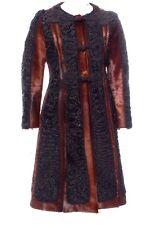 PRADA cappotto di pelliccia Agnello persiano con ricamo vitello Capelli & - mozzafiato!