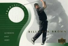 2001 BILLY RAY BROWN UPPER DECK TOUR THREADS AUTHENTIC GOLF SHIRT CARD !