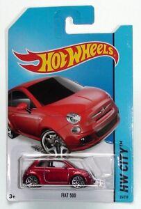 HOT WHEELS FIAT 500 #25/250 DIECAST SCALE 1/64 AU LONG CARD NEW
