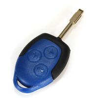 3 Button Connect Remote Key FOB Case Shell Cover Uncut Blade Ford Transit Blue