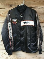 Vintage Indy 500 old Ford Mustang auto racing Pace Car silk jacket 1979 Medium