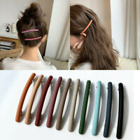 Women's Candy Color Hairpin Solid Color Hair Clip Matte Barrette Girls Headware