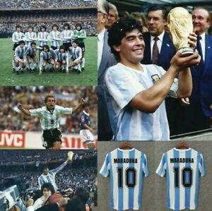 #10 Diego Maradona Argentina Legend Classic Soccer Authentic Football Shirt