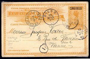 Belgium Colonies CONGO Postal Stationery Card Dison LOKANDU Message 1909 F415a
