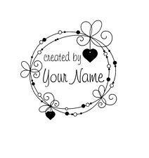 UNMOUNTED PERSONALIZED 'CREATED BY' RUBBER STAMPS C113