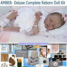Reborn AMBER  Complete Beginner Starter DELUXE Kit Lot DVD, PAINTS, BODY, MOHAIR