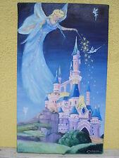 """tableau peinture huile """"Un monde merveilleux"""""""