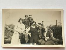 Photograph WW2 Fusilier with Family Brothers Sisters Mum Dated 1941 5