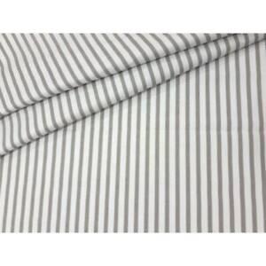 "100% Cotton Fabric Children Pinstripe Stripe Gray & White Stripes 64"" 160 CM"