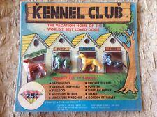 1988 Kennel Club Vending Display Card Figures Dachshund Boxer 4 Dogs Hong Kong