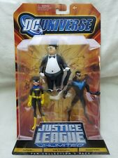 Justice League Unlimited Batgirl, Penguin, Nightwing Fan Collection 3 Pack