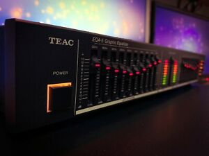 TEAC EQA-5 (1984) Dark Vintage Stereo Graphic Equalizer Spectrum Analyzer