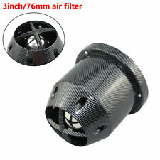 Carbon Fiber Universal 76mm Car Auto High Flow Cold Air Intake Filter Cleaner