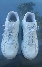 Used Reebok DMX Max Classic White Flat Walking Athletic Men's Shoes Size 12 wide