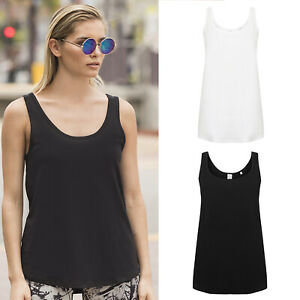 SF Women's Slounge Cotton Vest (SK234) - Ladies Gym Sleeveless Loose Fit Tee