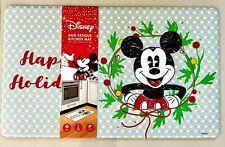 Disney Mickey Mouse Anti-Fatigue Kitchen Mat Happy Holidays 18 x 30 New