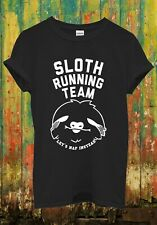 Sloth Running Team Hipster Novelty Funny Cool Men Women Top Unisex T Shirt 1125