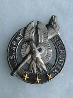 Authentic US Army Basic Recruiter Badge Pin Insignia Vintage NH