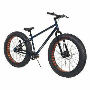 "Men's 26"" Krusher Fat Tire Bike Comfort Ride w/ Dual Disc Brakes, Single Speed"