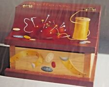 CHERI ROL 1988 SEWING BUTTON BOX OIL STILL LIFE PAINTING PATTERN PACK D-55