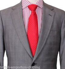 BNWT Holland Esquire Grey CHECK 100% WOOL Suit + H.Esq FREE SUIT CARRIER