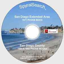 CA - San Diego 1971 & San Diego County 1964 & 1966 Combined Phone Book CD
