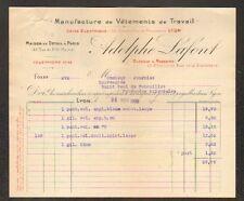 """LYON (69) USINE de VETEMENTS de TRAVAIL """"Adolphe LAFONT"""" en 1909"""