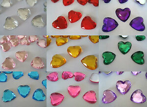 Scatter Table Confetti/Decorations/Gems/Crystals Craft 10mm Heart shaped Wedding