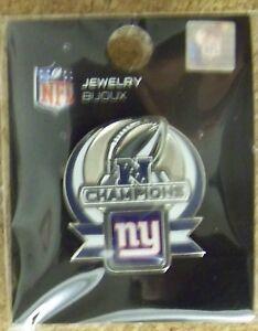 2012 Super Bowl 46 XLVI pin New York Giants NFC Champions SB S.B.