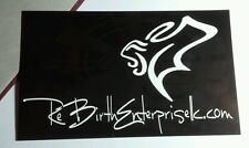 RE BIRTH REBIRTH ENTERPRISE LLC .COM B&W BLACK RARE MUSIC STICKER