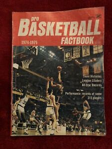Vintage 1974-75 Pro Basketball Fact Book By Jack Orr Official Record Of Players
