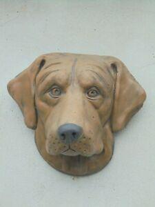 Labrador dog head wall plaque concrete garden ornament