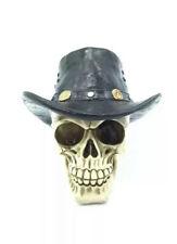 Cowboy Skull Head Ornamnet Figurine Statue  Gift