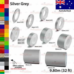 2mm-100mm PIN STRIPE Car Model Bike Truck Line TAPE Vinyl Stickers SILVER GREY