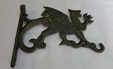 Cast iron Welsh dragon hanging basket bracket / holder garden home NEW