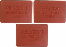 3 x Falcon Traditional Household Red Carbolic Soap 125g by Falcon