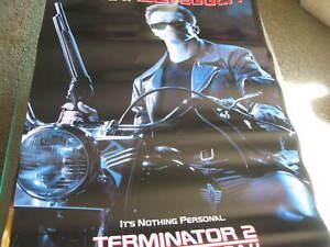 Terminator 2 Arnold schwarzenegger  Movie poster Mancave  bar  40x27