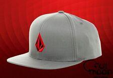 New Volcom Full Stone Gray Snapback Cap Hat